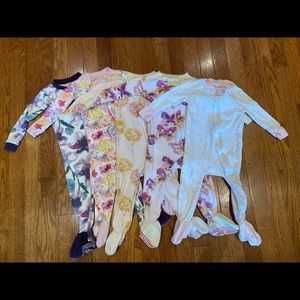 Burt's Bees Snug Fit Footed PJs - Size 12mo